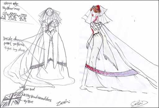 拖尾婚纱简笔画步骤图