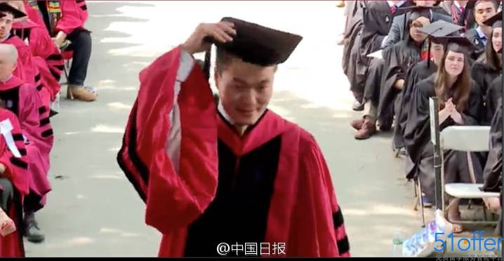 中国留学生首登哈佛毕业典礼演讲台